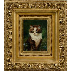 Sidney Lawrence Brackett (American, 1852-1910)      Kitten.