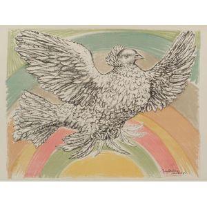 Pablo Picasso (Spanish, 1881-1973)    Colombe Volant à l