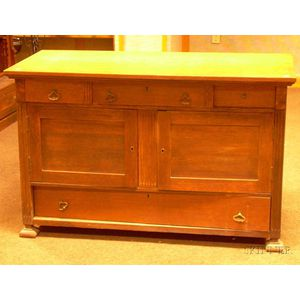 Late Victorian Oak Commode.