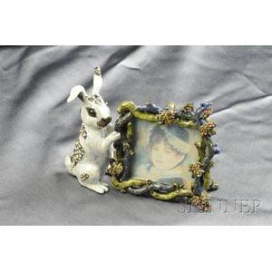 Enamel and Swarovski Crystal Rabbit Frame, Jay Strongwater