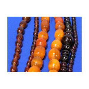 Three Strands of Amber Beads.