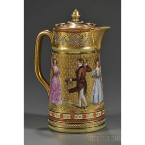 Dresden Porcelain Hot Water Pot and Cover