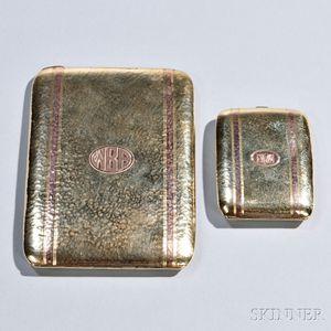 14kt Gold Cigarette Case and Match Safe
