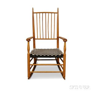 Shaker-style Maple Armed Rocking Chair