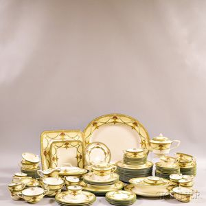 "Group of Royal Worcester ""Bristol"" Porcelain Dinnerware.     Estimate $300-500"