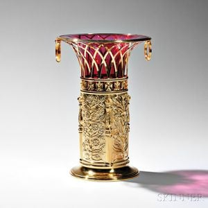 Elizabeth II Sterling Silver-gilt Commemorative Vase