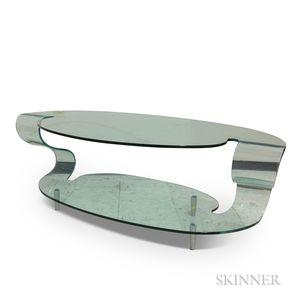 Fiam Italia Post Modern Sculpted Glass Coffee Table
