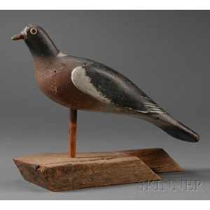 Carved and Painted Passenger Pigeon Decoy