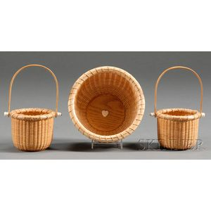 Three Small Contemporary Nantucket Baskets