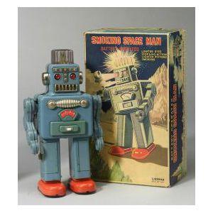 Smoking Space Man Robot by Linemar