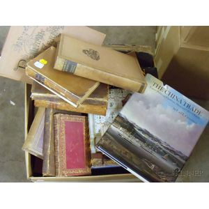 Group of Antique Reference Books and Mixed Leather and Cloth Bindings