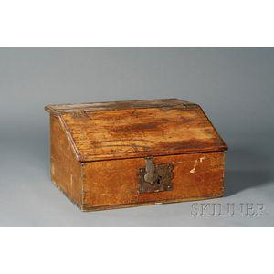 Maple and Pine Slant-lid Desk Box