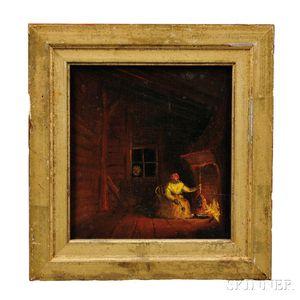 Attributed to Mary Priscilla Wilson Smith (Pennsylvania, 1819-1874)      Black Woman in an Interior