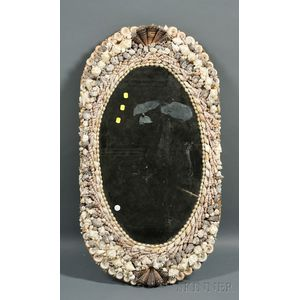 Grotto-style Shell Framed Mirror