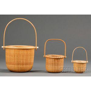 Three Contemporary Nantucket Baskets