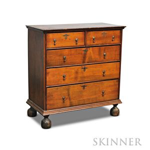William & Mary Maple Chest of Drawers