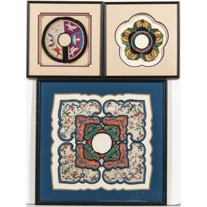 Three Embroidered Informal Collars
