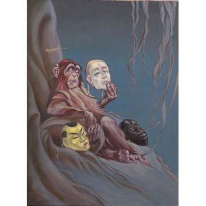 Cyrus Leroy Baldridge (American, 1889-1975)    Monkey with Masks