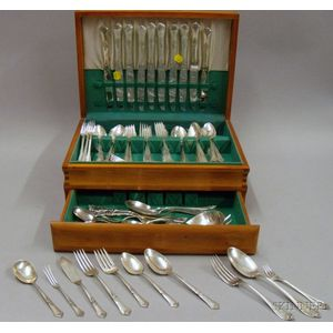 Boxed Set of State House Sterling Flatware with Additional Sterling Flatware