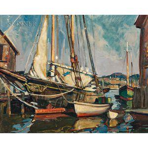 William Lester Stevens (American, 1888-1969)      Gloucester Docks