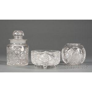 Three Cut Glass Items