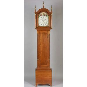 American Federal Cherry Tall Case Clock
