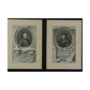 Jacobus Houbraken, engraver (Dutch, 1698-1780)  Lot of Four Portraits After Paintings by Kneller and Others