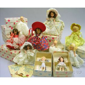 Ten Boxed Nancy Ann Story Book Dolls
