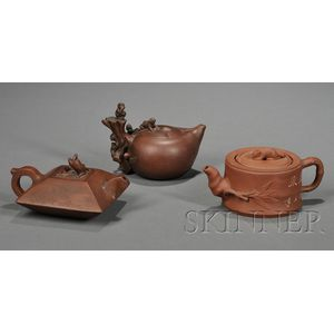 Three Yixing Teapots