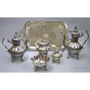 Six -piece Reed & Barton Silver Plate Tea Service
