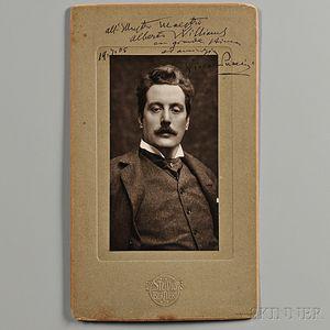 Puccini, Giacomo (1858-1924) Signed Photograph, 19 July 1905.