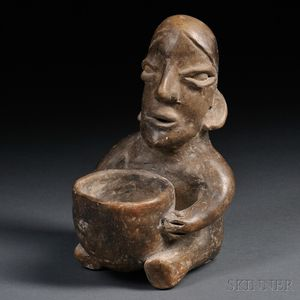 Jalisco Seated Figure with Bowl