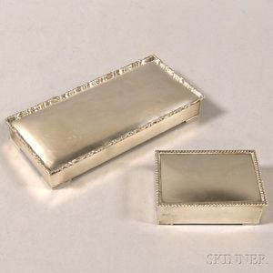 Two Mexican Sterling Silver-clad Boxes