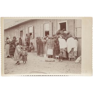 Cabinet Card Photo of Native Americans