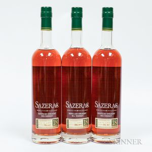 Buffalo Trace Antique Collection Sazerac 18 Years Old, 3 750ml bottles
