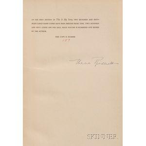 Roosevelt, Eleanor (1884-1962), Signed Copy