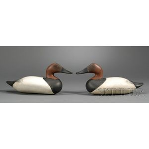 Pair of Canvasback Duck Decoys