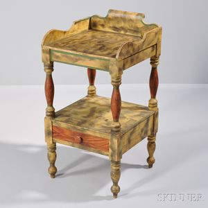Paint-decorated Chamber Stand