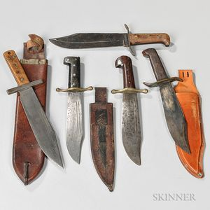 Four Fighting Knives