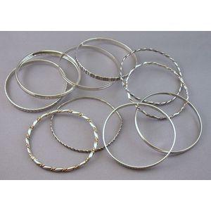 Ten Sterling Silver Bangles