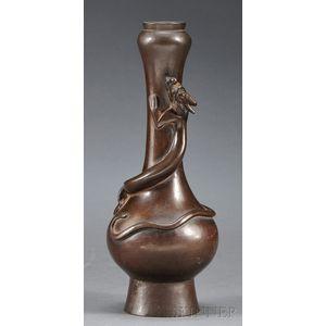 Garlic-mouthed Bronze Vase