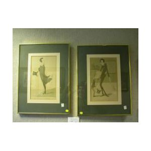 Lot of Two Framed English Caricature Prints.