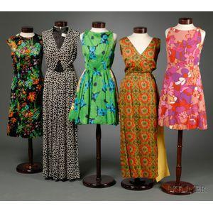 Five Vintage and Designer  Dresses/Ensembles