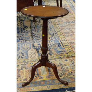 Chippendale Walnut Dish-top Candlestand.      Estimate $200-300