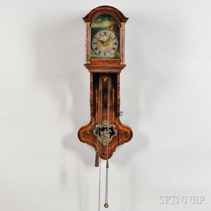 Small Dutch Hood Clock with Automata