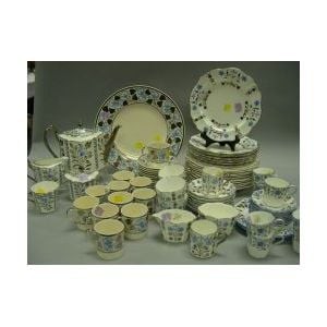 Approximately Seventy-six Pieces of Wedgwood Silver Resist Tableware