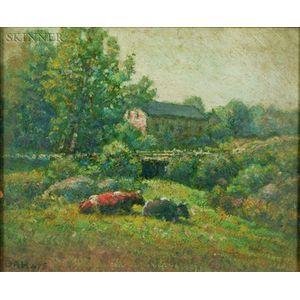 George Arthur Hays (American, 1854-1945)    Lot of Three Works: Sketch on Runnins River, Seekonk, Massachusetts