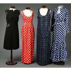 Two Cotton and Two Wool Vintage Designer Outfits