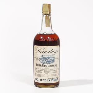 Hermitage Pure Rye Whiskey, 1 quart bottle