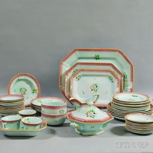 """Fifty-four Pieces of Adams """"Calyx Ware,"""""""